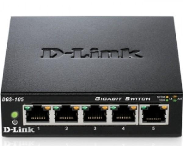 D-LINK DGS-105 5 port switch
