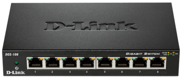 D-LINK DGS-108 8 port switch