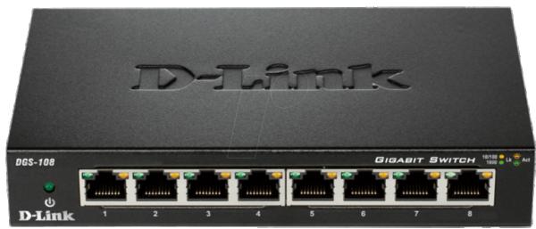 D-LINK DGS-108 8 port switch