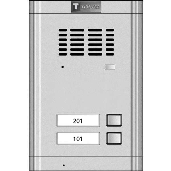 TASTAT ZA 2-ZICNI INTERFON T2-2 silver
