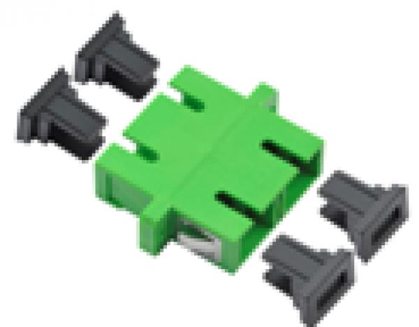 SC/APC Duplex adapter, Singlemode